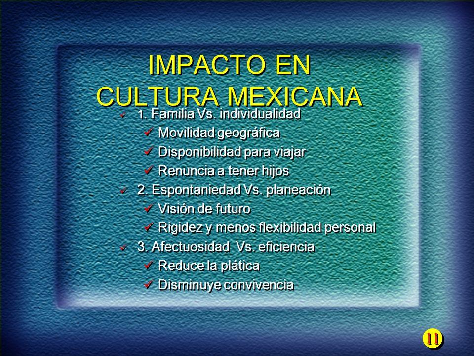 IMPACTO EN CULTURA MEXICANA