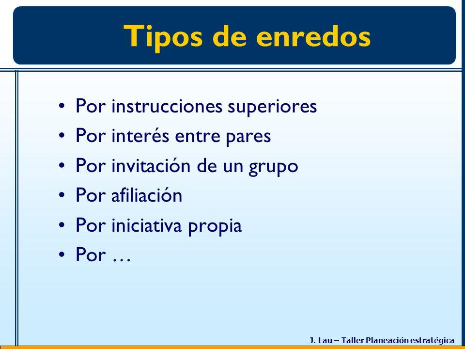 Tipos de enredos Por instrucciones superiores Por interés entre pares
