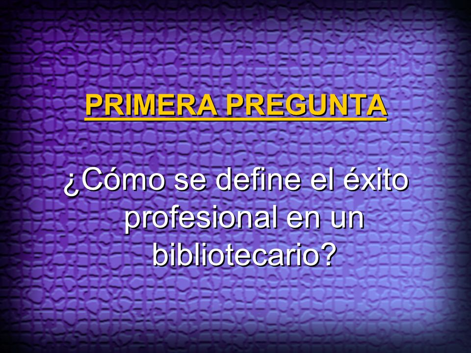 ¿Cómo se define el éxito profesional en un bibliotecario