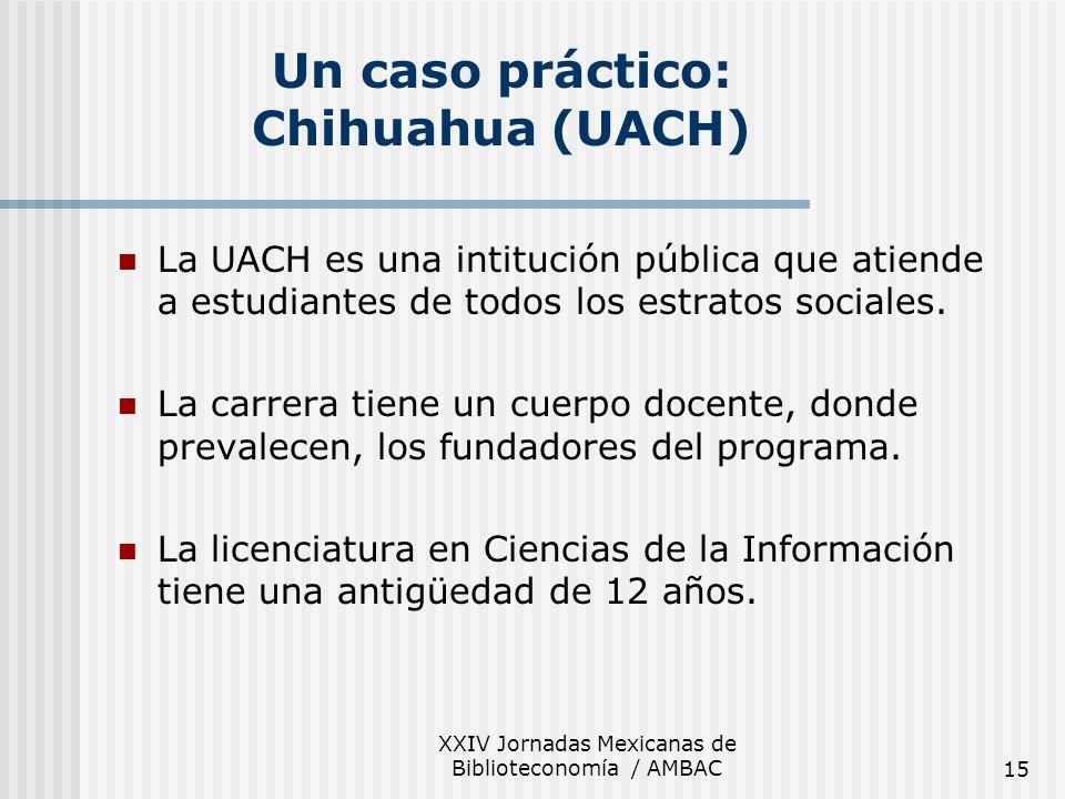 Un caso práctico: Chihuahua (UACH)