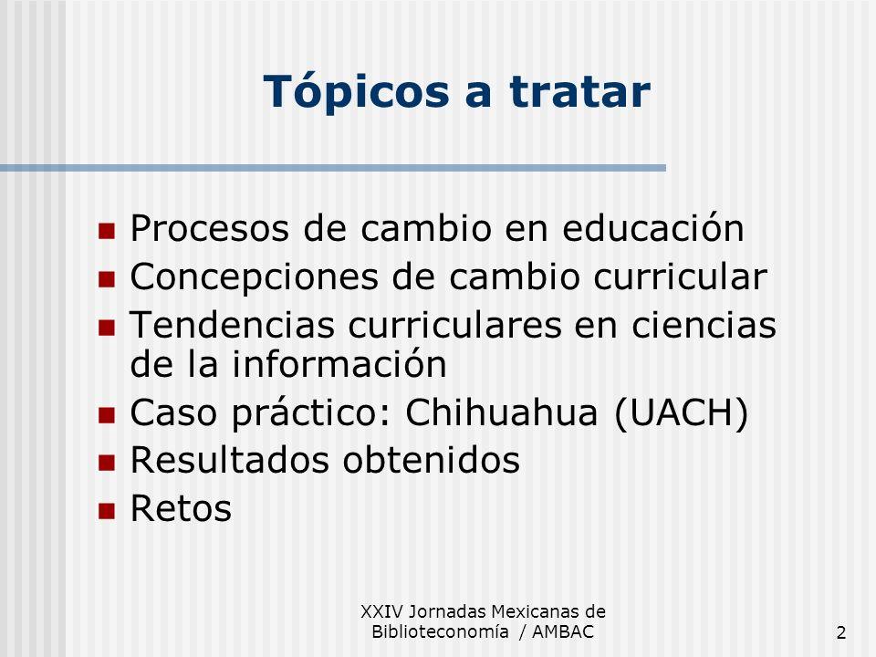 XXIV Jornadas Mexicanas de Biblioteconomía / AMBAC