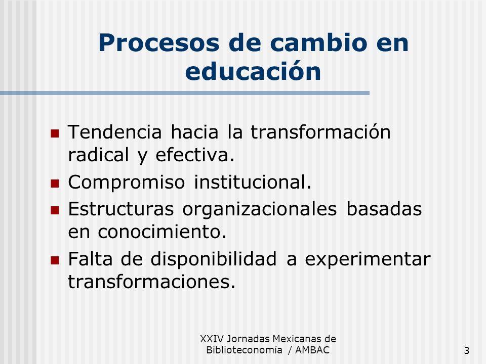 Procesos de cambio en educación