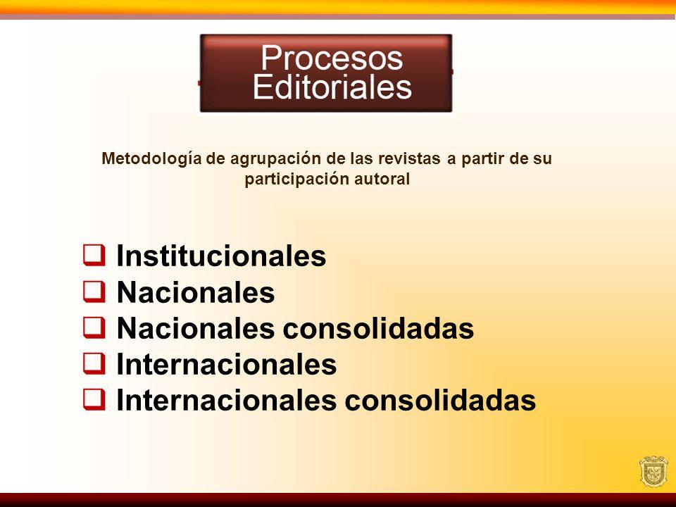 Nacionales consolidadas Internacionales Internacionales consolidadas