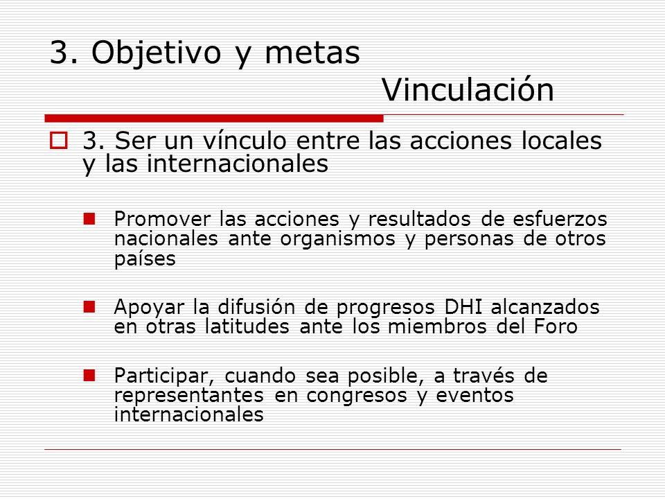 3. Objetivo y metas Vinculación