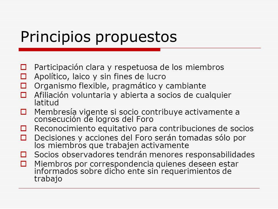 Principios propuestos