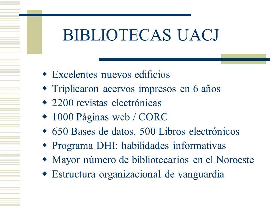 BIBLIOTECAS UACJ Excelentes nuevos edificios