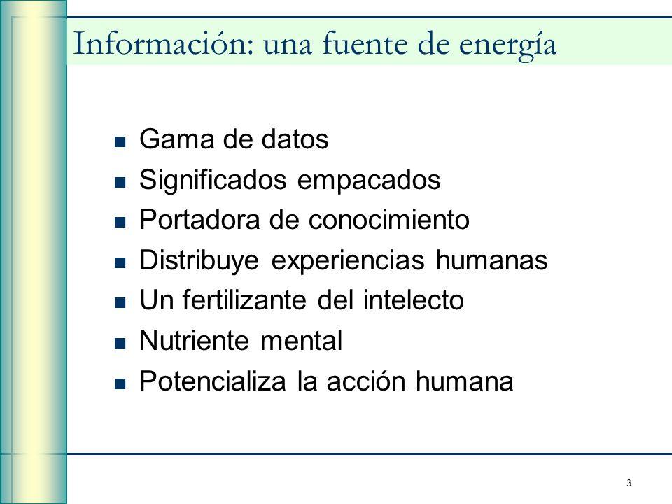 Información: una fuente de energía