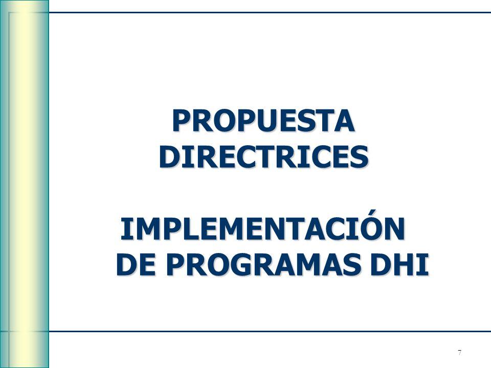IMPLEMENTACIÓN DE PROGRAMAS DHI
