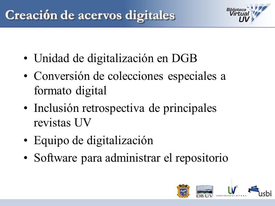 Creación de acervos digitales