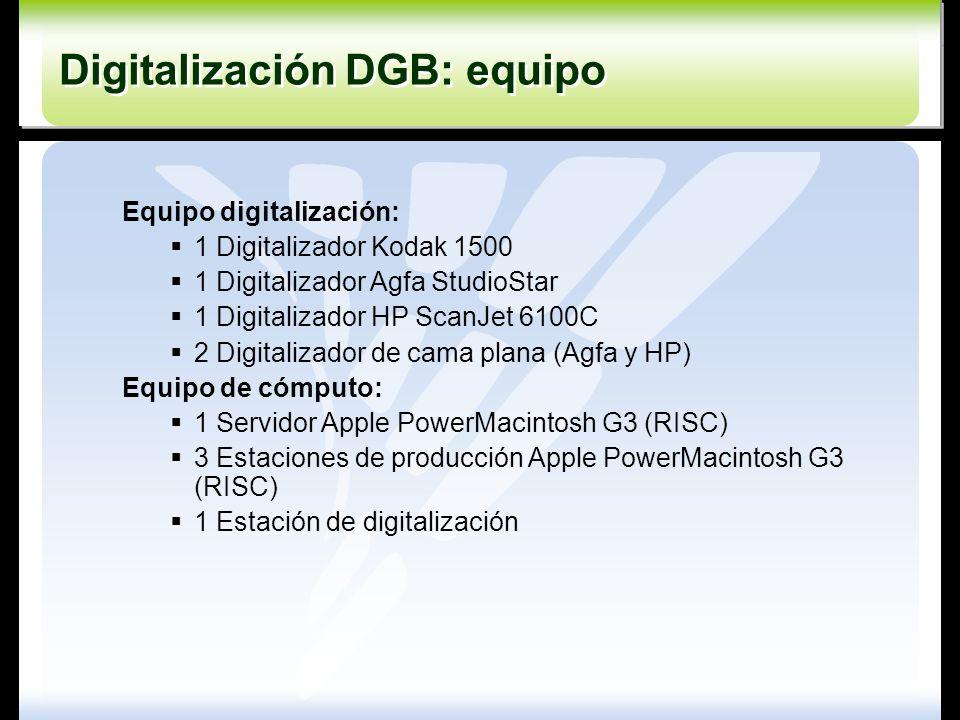 Digitalización DGB: equipo