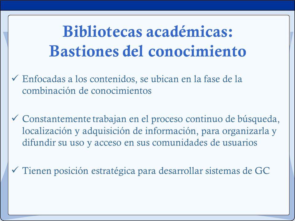 Bibliotecas académicas: Bastiones del conocimiento