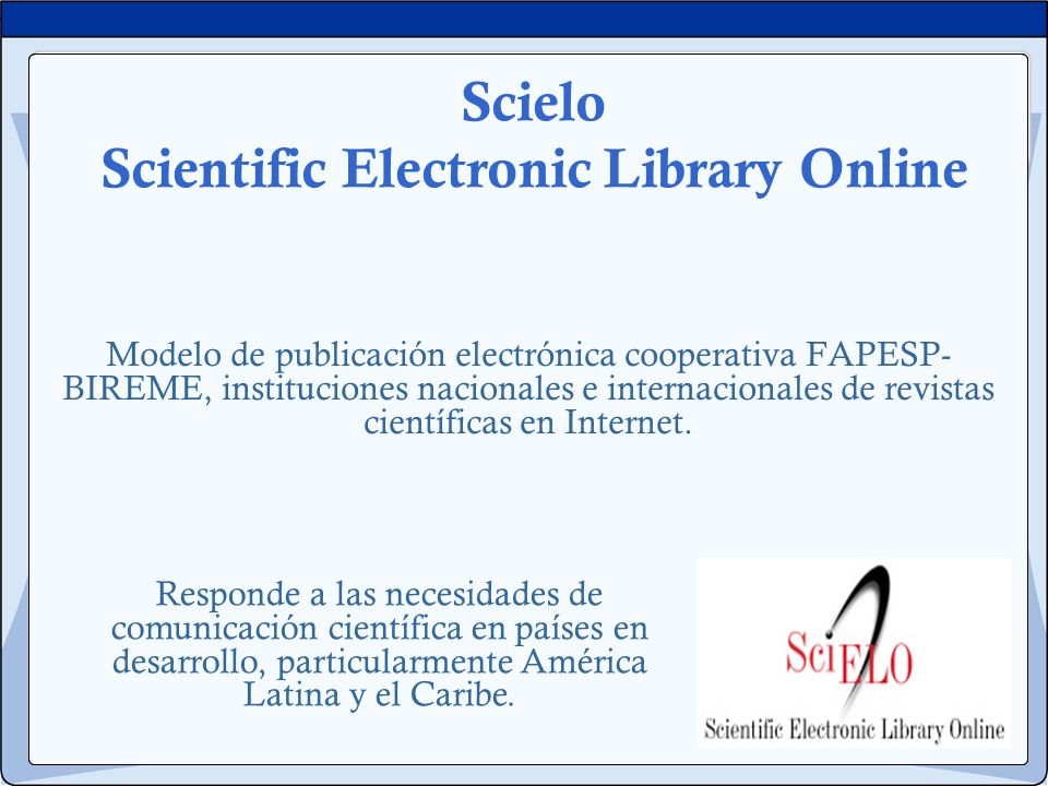 Scielo Scientific Electronic Library Online