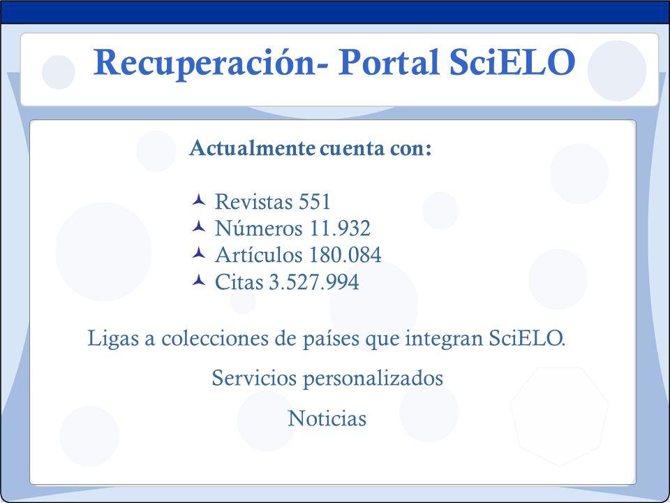 Recuperación- Portal SciELO