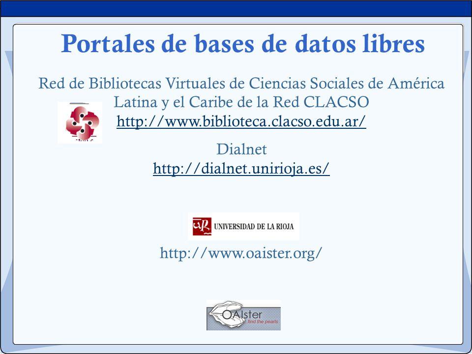 Portales de bases de datos libres