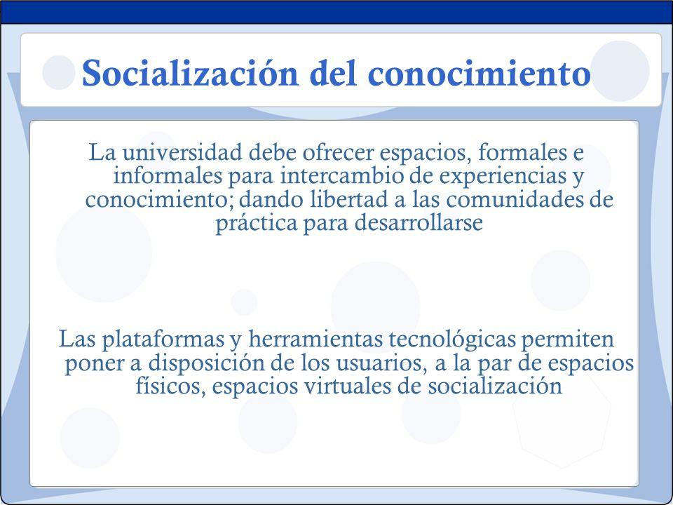 Socialización del conocimiento
