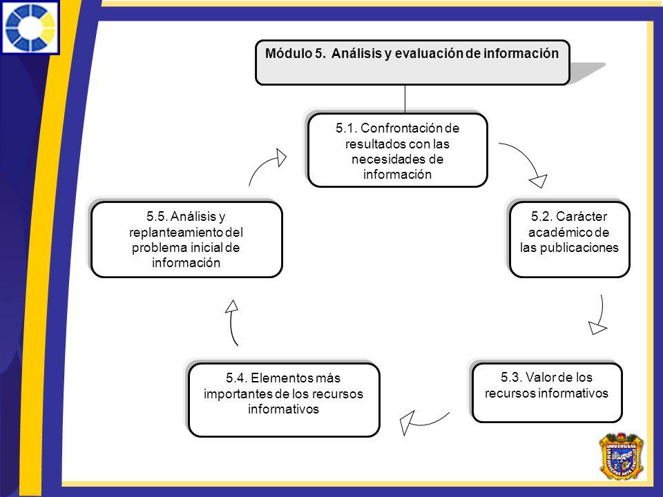 Módulo 5. Análisis y evaluación de información
