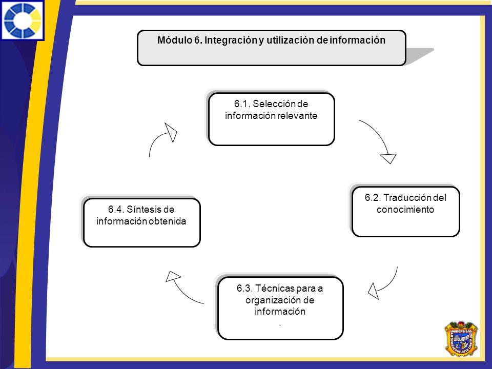 Módulo 6. Integración y utilización de información