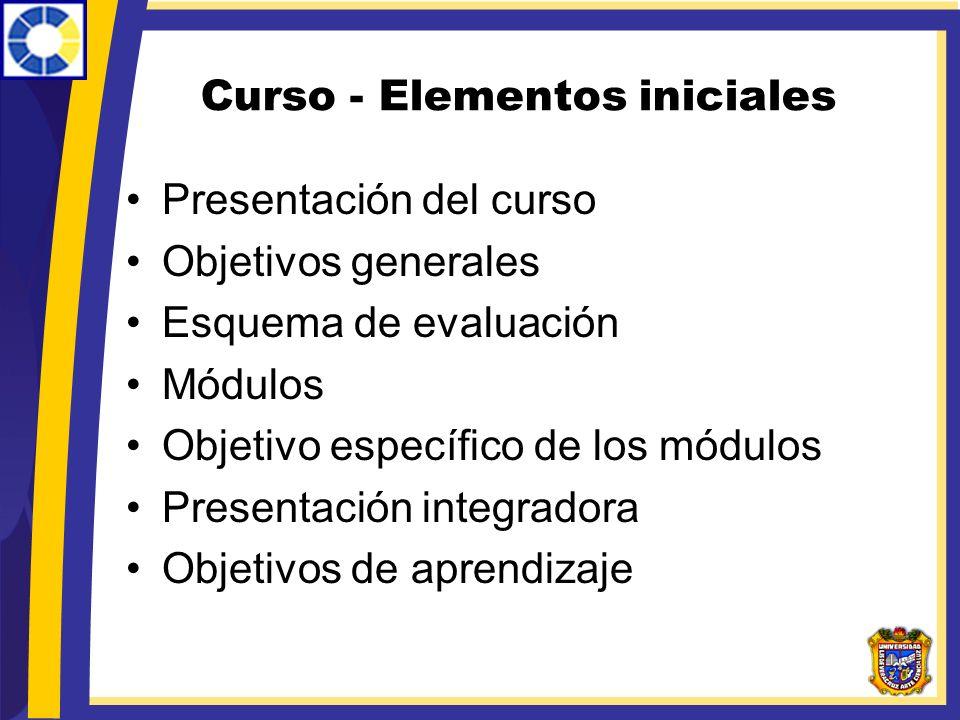 Curso - Elementos iniciales