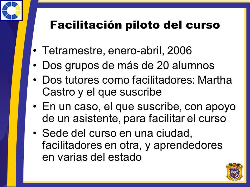 Facilitación piloto del curso