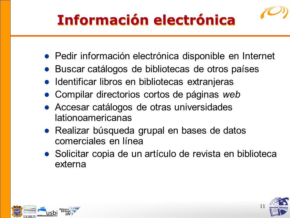Información electrónica