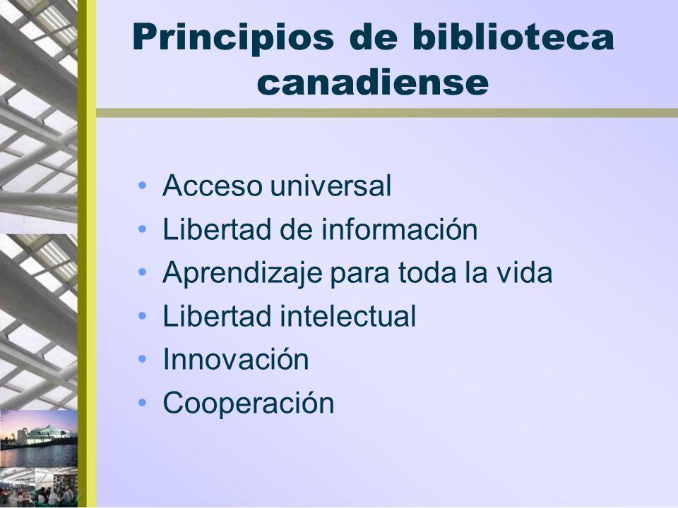 Principios de biblioteca canadiense