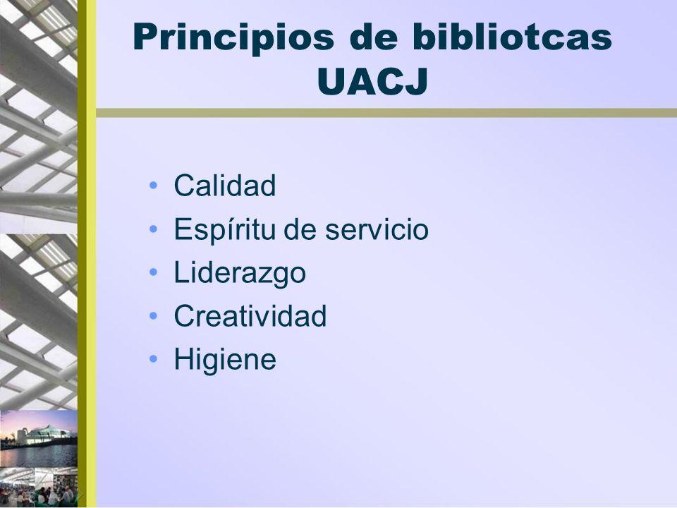 Principios de bibliotcas UACJ