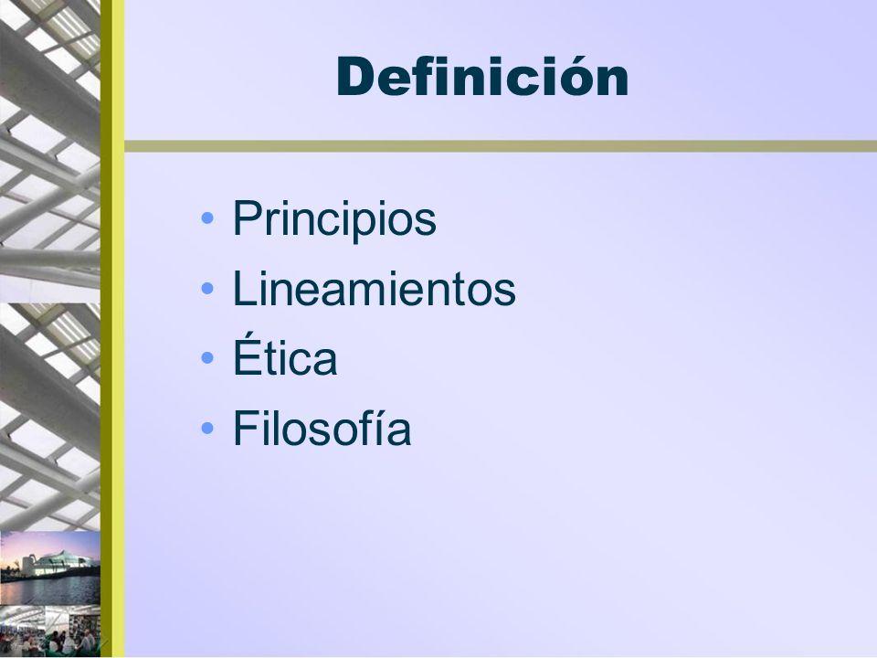 Definición Principios Lineamientos Ética Filosofía