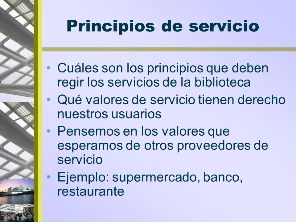 Principios de servicio