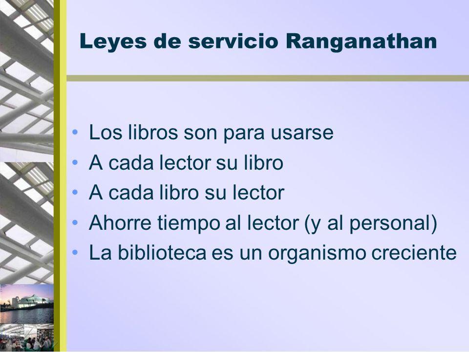 Leyes de servicio Ranganathan