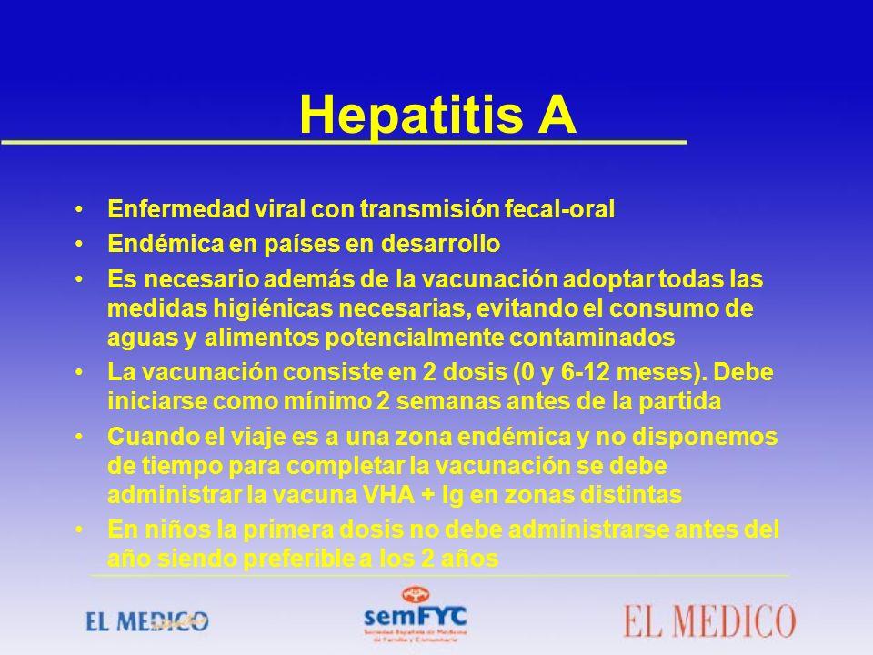 Hepatitis A Enfermedad viral con transmisión fecal-oral
