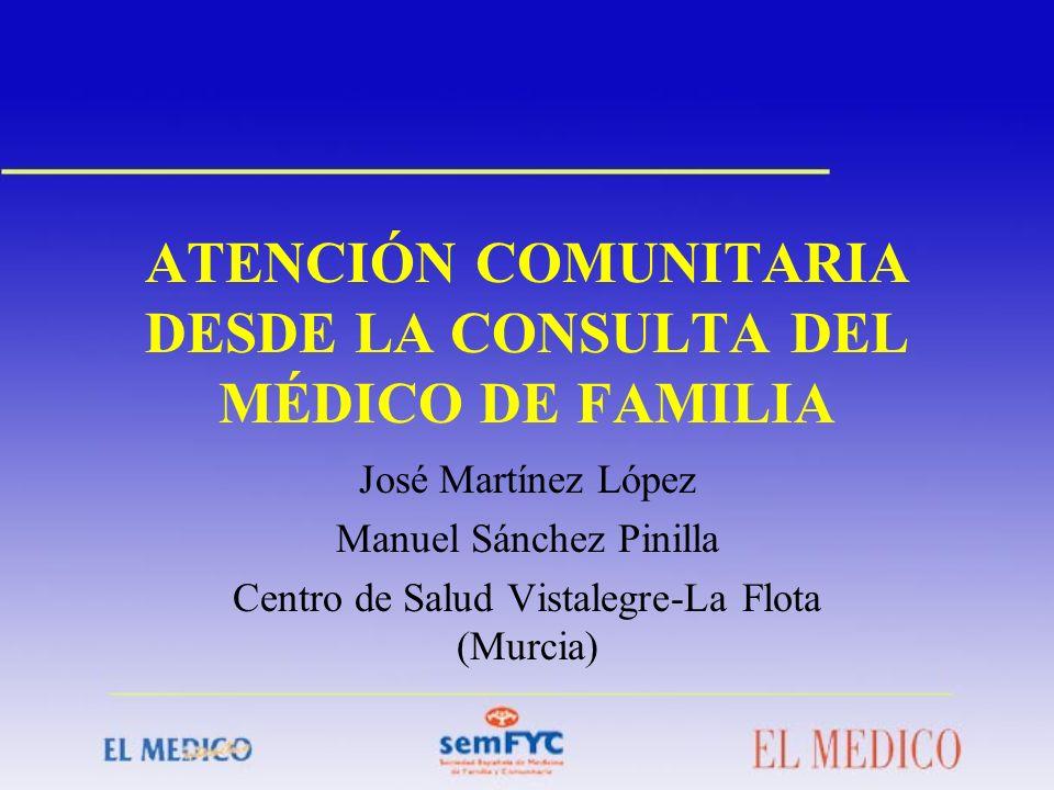 ATENCIÓN COMUNITARIA DESDE LA CONSULTA DEL MÉDICO DE FAMILIA