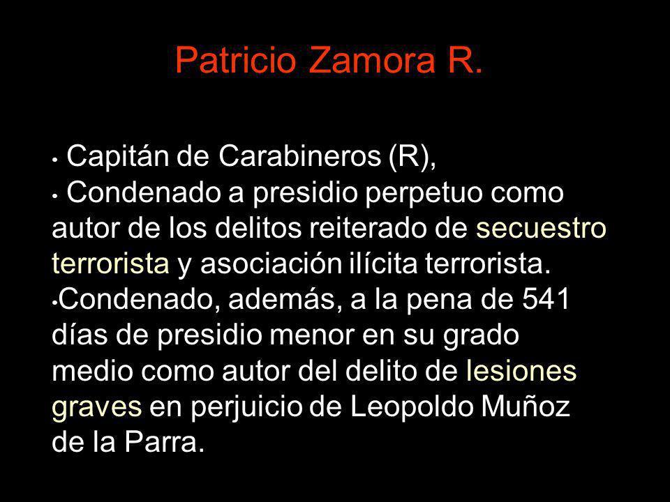 Patricio Zamora R. Capitán de Carabineros (R),