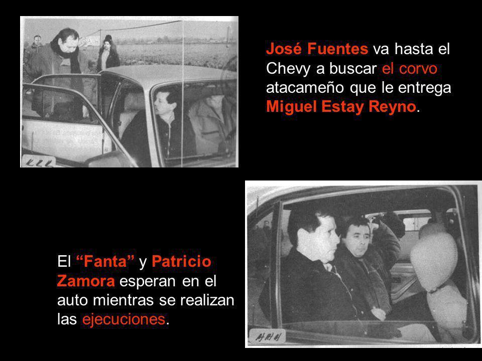 José Fuentes va hasta el Chevy a buscar el corvo atacameño que le entrega Miguel Estay Reyno.