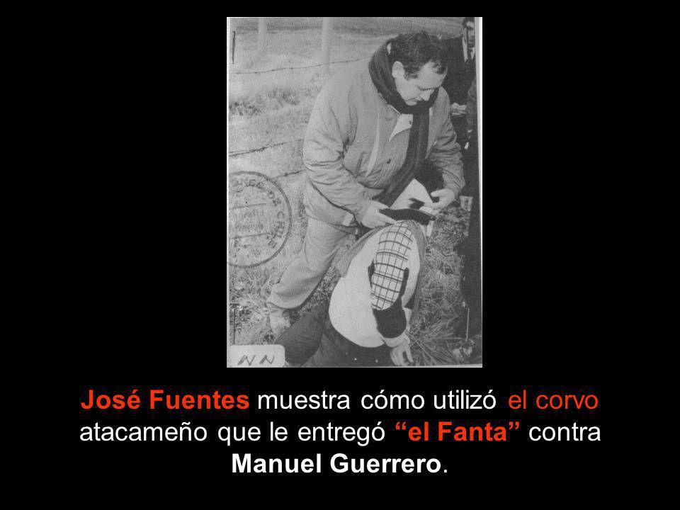José Fuentes muestra cómo utilizó el corvo atacameño que le entregó el Fanta contra Manuel Guerrero.