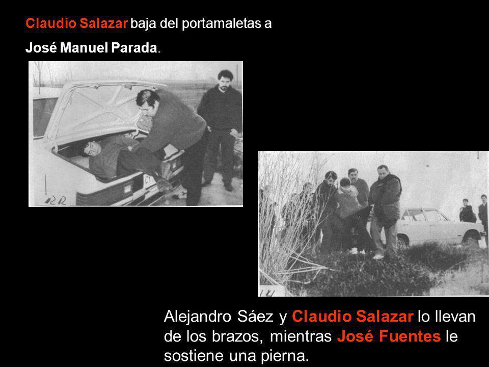 Claudio Salazar baja del portamaletas a