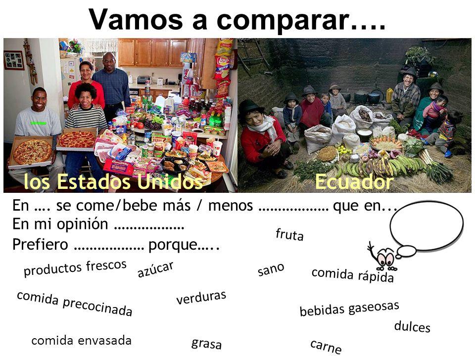 Vamos a comparar…. los Estados Unidos Ecuador