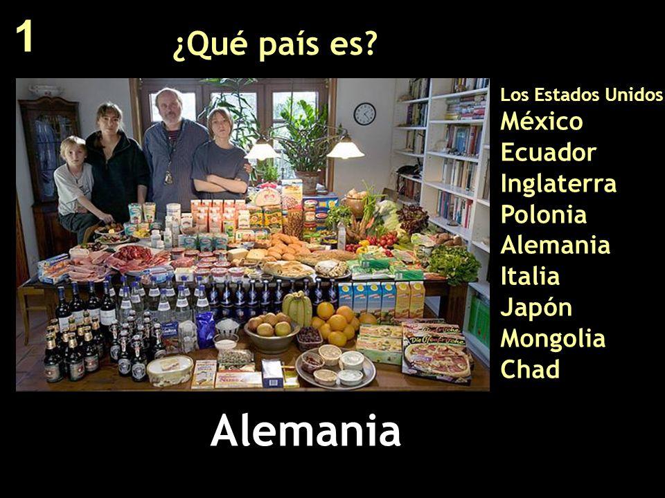 1 ¿Qué país es Los Estados Unidos México Ecuador Inglaterra Polonia Alemania Italia Japón Mongolia Chad.