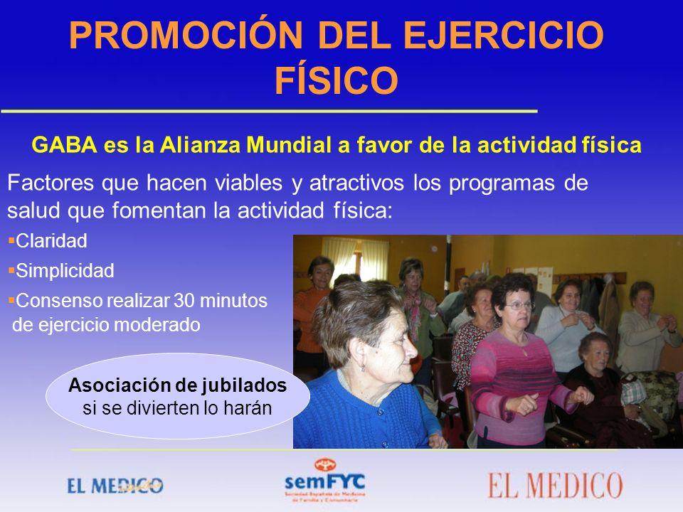 PROMOCIÓN DEL EJERCICIO FÍSICO Asociación de jubilados