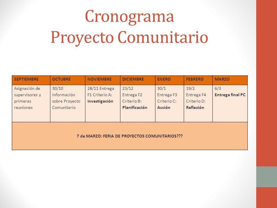 Cronograma proyecto comunitario ppt descargar for Proyecto de comedor comunitario