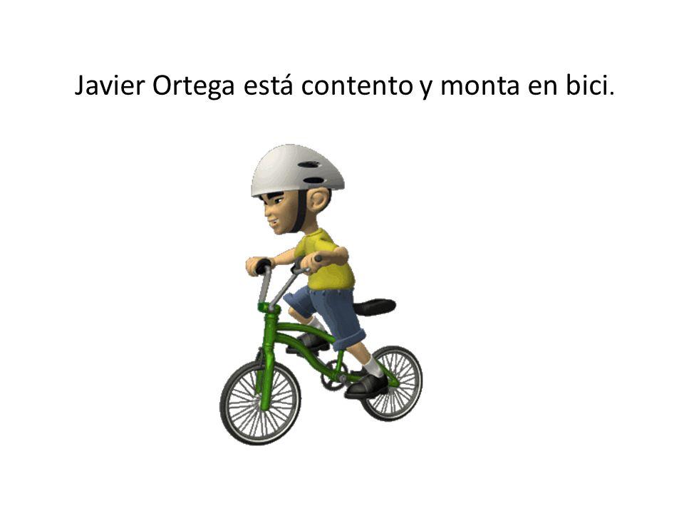 Javier Ortega está contento y monta en bici.