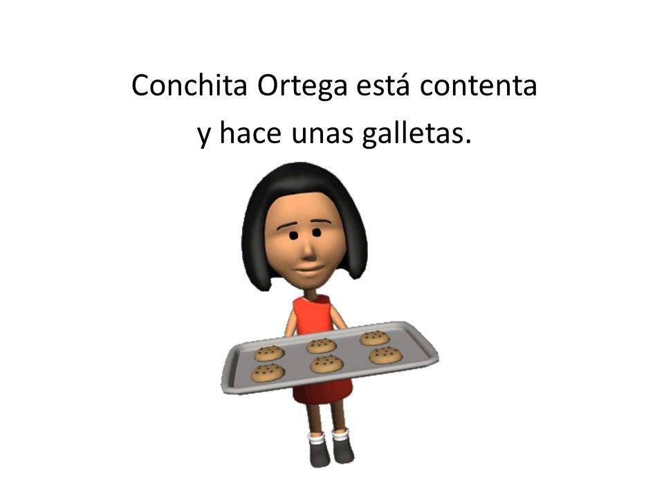 Conchita Ortega está contenta