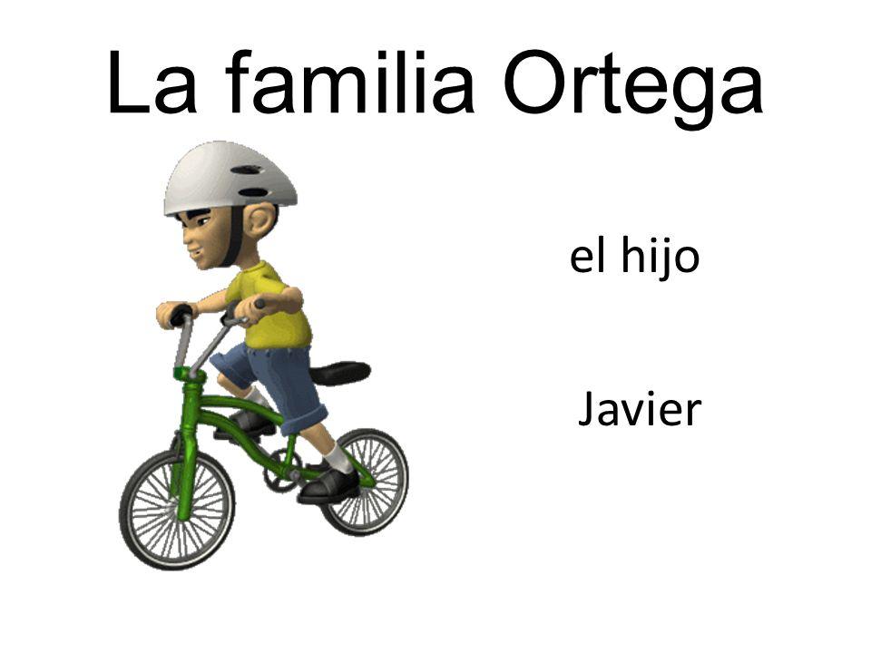 La familia Ortega el hijo Javier
