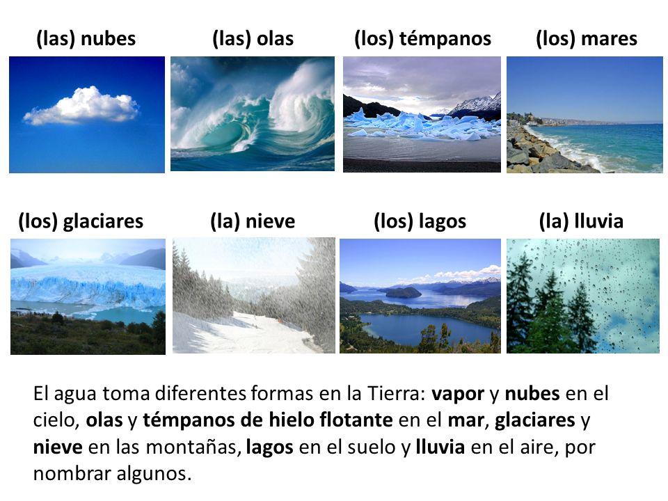 (las) nubes (las) olas (los) témpanos (los) mares (los) glaciares