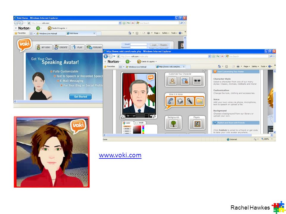 www.voki.com Rachel Hawkes