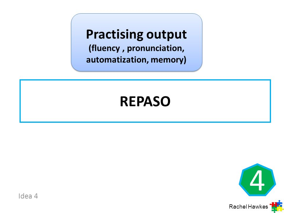 Practising output (fluency , pronunciation, automatization, memory)