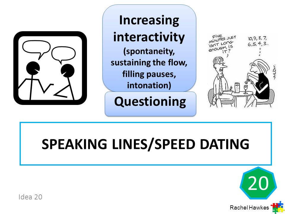 Speaking lines/speed dating