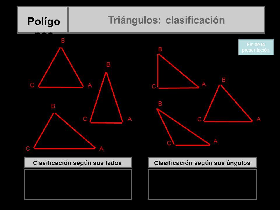 Polígonos Triángulos: clasificación A B C C B A C B A C B A C B B A C