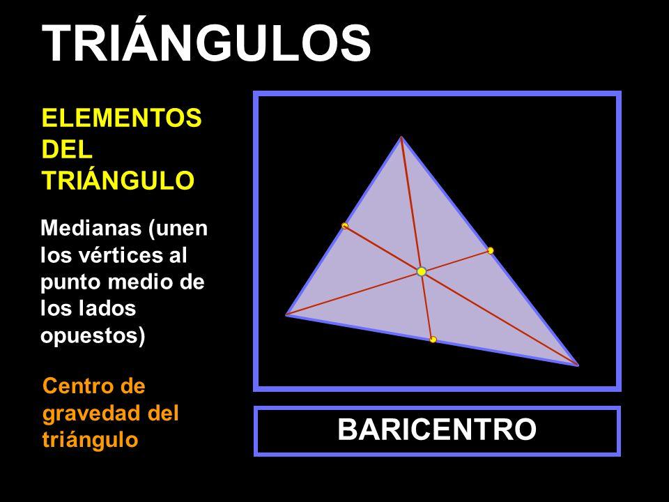 TRIÁNGULOS BARICENTRO ELEMENTOS DEL TRIÁNGULO