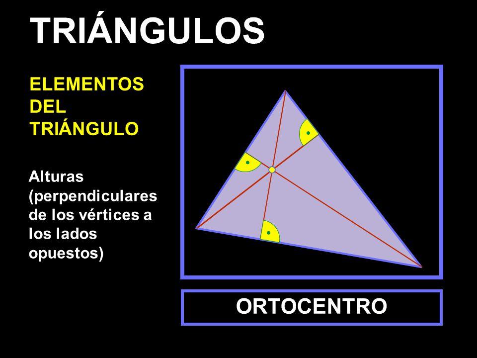 TRIÁNGULOS ORTOCENTRO ELEMENTOS DEL TRIÁNGULO