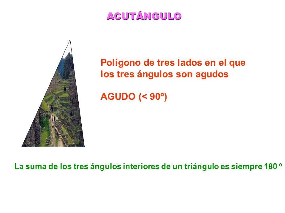 Polígono de tres lados en el que los tres ángulos son agudos